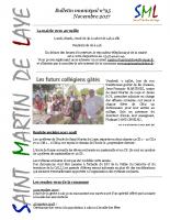 Bulletin n°95 – Novembre 2017