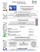 Bulletin n°98 – Avril-Mai 2019